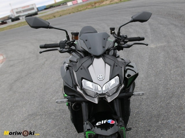 Prueba Kawasaki Z-H2.. Manillar