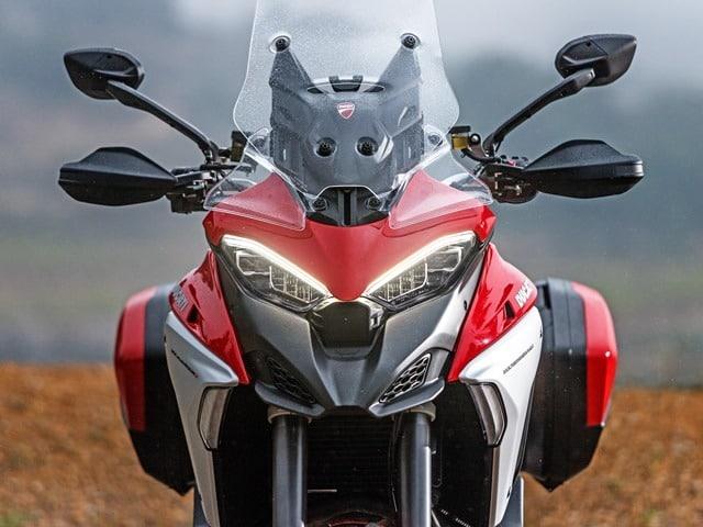 Prueba Ducati Multistrada V4. Protección conductor.