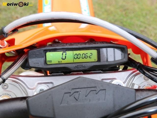 Prueba KTM EXC 250 F reloj.