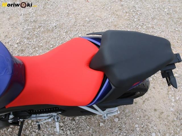 Prueba Aprilia RS 660 asiento.