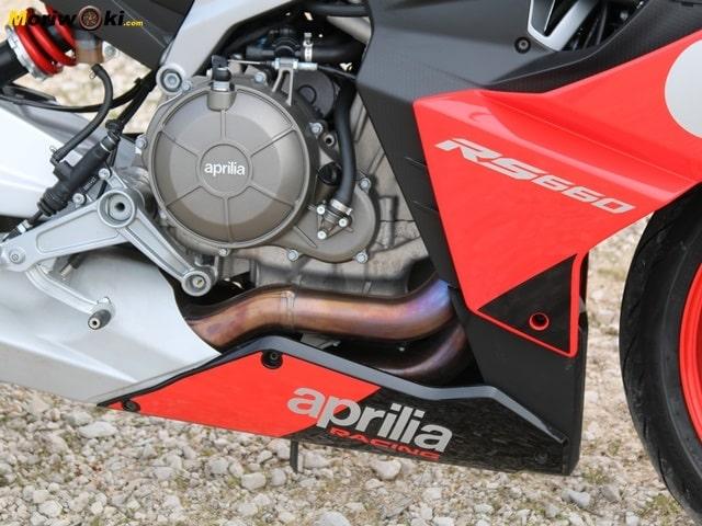 Prueba Aprilia RS 660 motor.